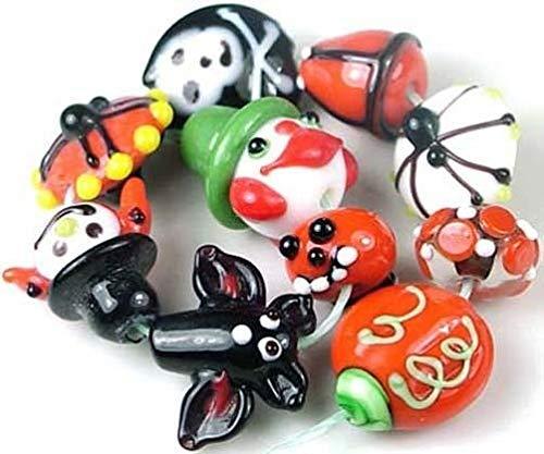 Lampwork Handmade Beads Halloween Fun (10), Beading, Jewelry Making, DIY Crafting, Arts & Sewing by Perfect Beads Store