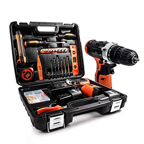 LETTON Power Tools Combo Kit Set 16.8V Cordless Drill with 24 Accessories for Home wireless Repair Kit Tools