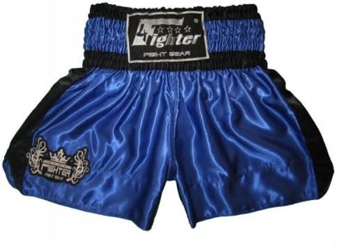 4Fighter Shorts Muay Thai Classic negro con la 4Fighter logo en la pierna