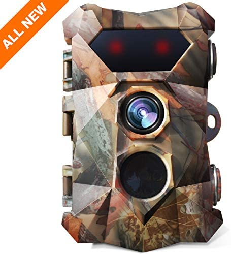 AIMTOM 16MP 1080P Trail Camera 0.3s Trigger Speed Motion Activated Hunting Cam Waterproof Wildlife Security Monitor w 2.4 LCD Screen