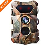 AIMTOM 16MP 1080P Trail Camera 0.3s Trigger Speed Motion Activated Hunting Cam Waterproof