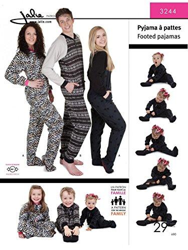 Jalie Family Sewing Pattern 3244 Onesies & Pyjamas