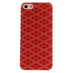 GJYRed Diamond Pattern PC Hard Case with Transparent Frame for iPhone 5/5S