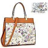 MMK collection Fashion Handbag~Bamboo handle Handbag for Women` Signature fashion Designer Purse~ Beautiful Designer Purse & Women Satchel Purse (2022 (MA-KK-F-6338-OW)