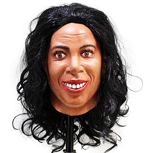 Realistic Human Head Latex Mask Crossdressing Female Mask Halloween Talk Show Party Fancy Dress Costume -