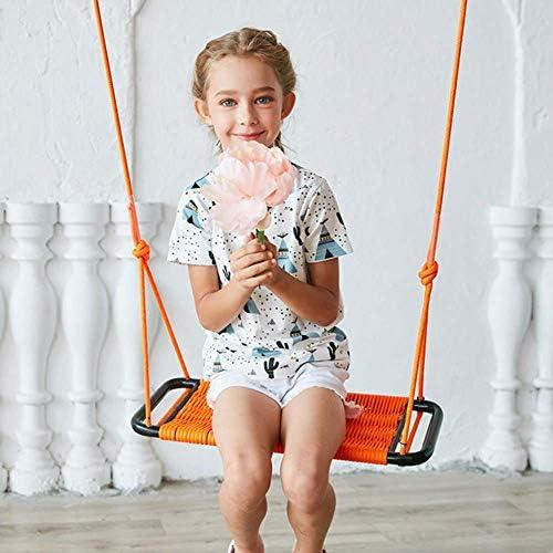 子供のスイングシート屋内と屋外の子供のおもちゃロープネットスイングシート手作りロープの長さは90-180 cm 2-15(屋外)で調整できます
