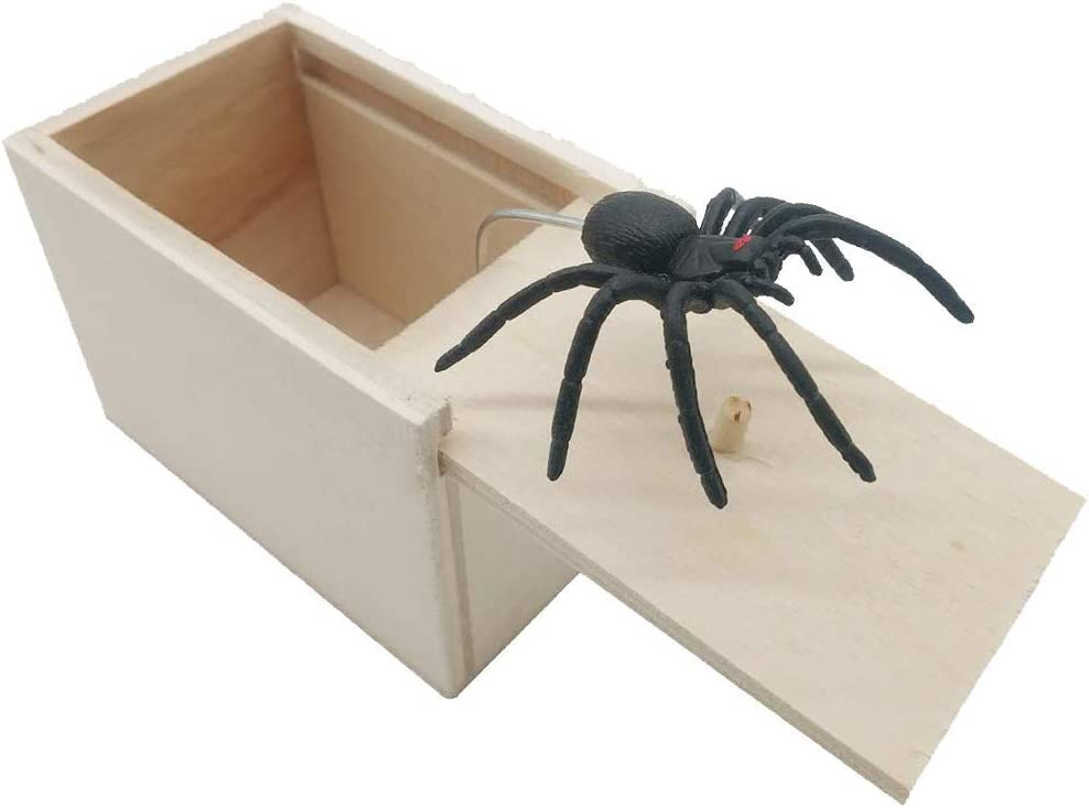 Premium pack Made in the USA Wooden Scarebox Joke Hilarious Scare Box Spider Prank