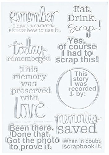 Technique Tuesday TT-SCRAP Clear Stamp, 4 by 6-Inch, Scrapbook It by Technique Tuesday (Image #1)