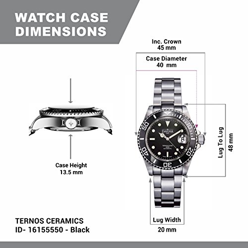 Davosa Swiss Made Men Wrist Watch, Ternos Ceramic 16155550 Professional Automatic Analog Display & Luxury Bezel by Davosa (Image #5)