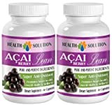 immune support for adults - ACAI BERRY LEAN - PURE AND POTENT INGREDIENTS - acai fiber - 2 Bottles (120 Capsules)