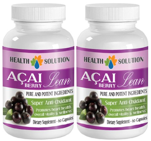 immune support for adults - ACAI BERRY LEAN - PURE AND POTENT INGREDIENTS - acai fiber - 2 Bottles (120 Capsules) by Health Solution Prime