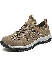 KOYODA Men's Waterproof Hiking Shoes Low Top Lightweight Outdoor Trekking Camping Trail Hiking Shoes