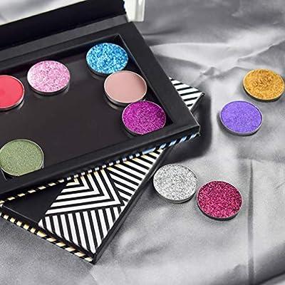 Lurrose Paleta de Maquillaje Magnético con Organizador de Sombra de Ojos Espejo Vacío para Base Colorete en Polvo Resaltador Cosméticos Caja Viaje 1Pc: Amazon.es: Belleza
