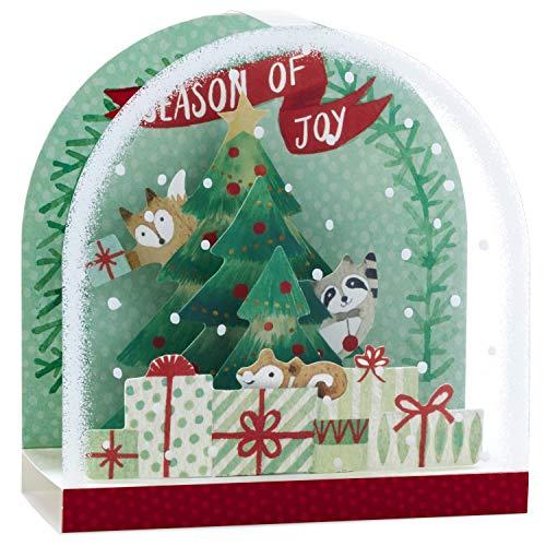 Hallmark Paper Wonder Pop Up Christmas Card Snow Globe (Woodland Creatures) Photo #8