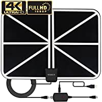 Skywire TV Antenna for Digital HDTV, 120 Mile TV Antenna Indoor Support 1080P 4K with Amplified 18ft Coax Cable
