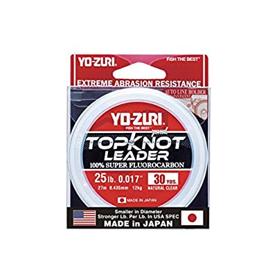Yo-Zuri Topknot 30 yd Sinking Leader, Natural Clear, 25 lb: Sports & Outdoors