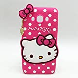 Rapid Zone Cute Hello Kitty Back Cover For Samsung Galaxy E5 - Pink