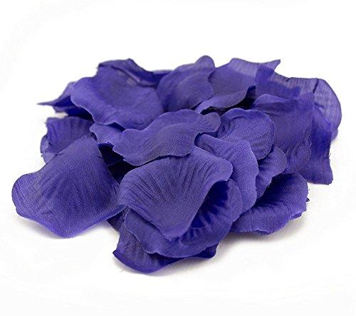 TSLIKANDO 2000PCS Royal Blue Silk Rose Petals Artificial Flower Wedding Party Vase Decoration Bridal Shower Favor
