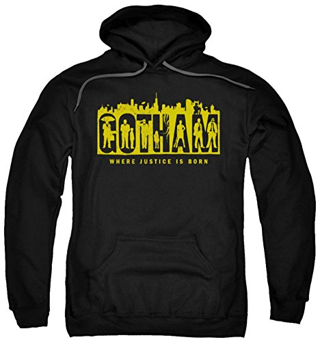 Hoodie: Gotham - Silhouettes Pullover Hoodie Size (Silhouette Pullover Hoodie)