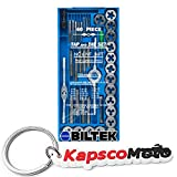 Biltek 40pc Professional SAE Tap and Die Set T-Handle Wrench Screw Pitch Gauge NC NF + KapscoMoto Keychain