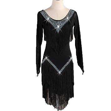 Moda Borla Actuaciones de Baile Latino/Vestidos de Competición ...
