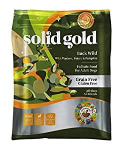 Solid Gold Grain Free Dry Dog Food; Buck Wild with Real Venison, 24lb