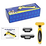 TWOBIU Pet Deshedding Brush for Dogs & Cats, Dog