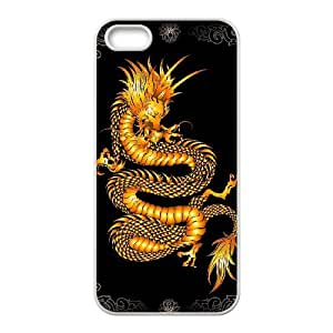 Customized Protective Hard Plastic Case for Iphone 5,5S - Dragon Print personalized case at CHXTT-C
