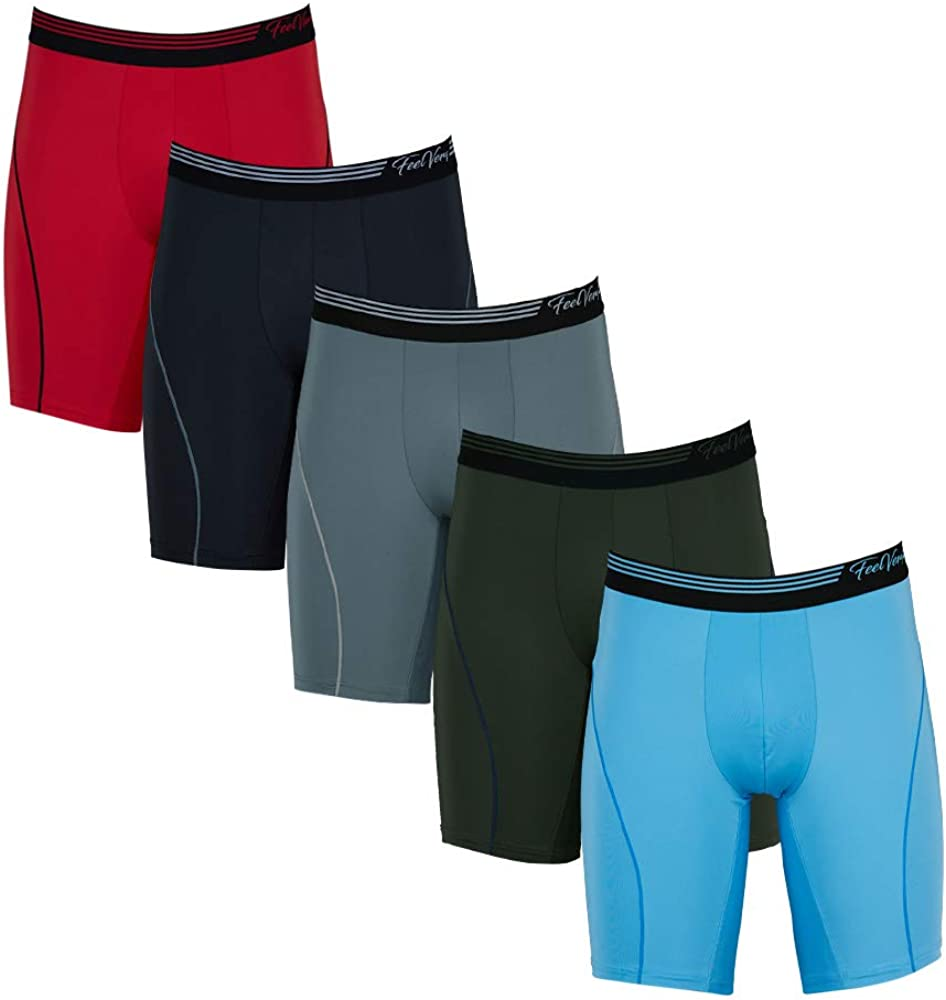Feelvery Men's 5% OFF Max 84% OFF Superior Fit Active Boxer Performance Microfiber