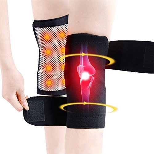 NiceMax 1Pair Self Heating Knee Pad ,Tourmaline Magnetic Therapy Knee Support Braces for Arthritis Pain Knee massager