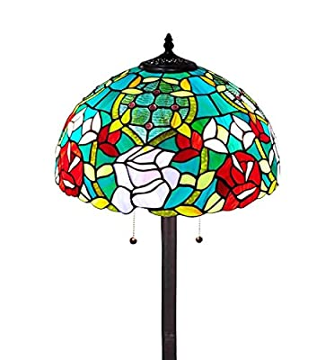 Amora Lighting AM084FL16 Tiffany Style Roses Floor Lamp 61 in