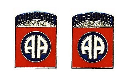 (US Army 82nd Airborne 2-Pack Lapel Pin Hat Tie Tac Brass Medium CHN)