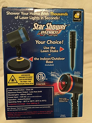 Star Shower Outdoor Laser Christmas Lights, Star Projector b
