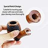 Joyoldelf Rosewood Tobacco Smoking Pipe with 3-in-1 Pipe Scraper – Wooden Pipe with Classic Arabesquitic Pattern