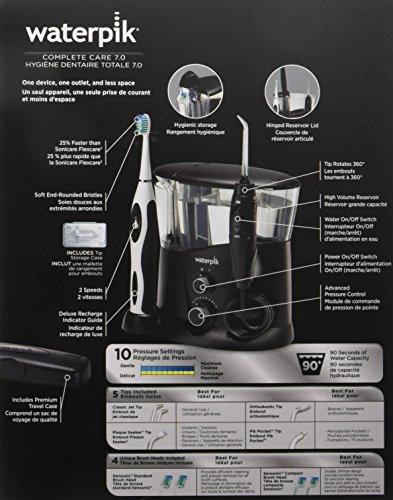 Waterpik WP-952 Complete Care 7.0 Water Flosser and Sonic Tooth Brush, Black by Waterpik (Image #20)