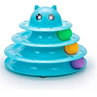 Beauenty- Cat Toy Roller Cat Toys 3 Level Towers Tracks Roller with 3 Colorful Ball Interactive Kitten Physical Exercise…