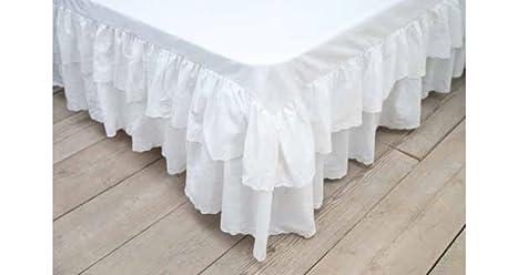 Blanc mariclo vestiletto shabby colore bianco per letto singolo
