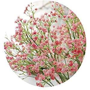 Easy- Love 80 Mini Heads 1PC DIY Artificial Baby's Breath Flower Gypsophila Fake Silicone Plant for Wedding Home Party Decorations 8 Colors 104