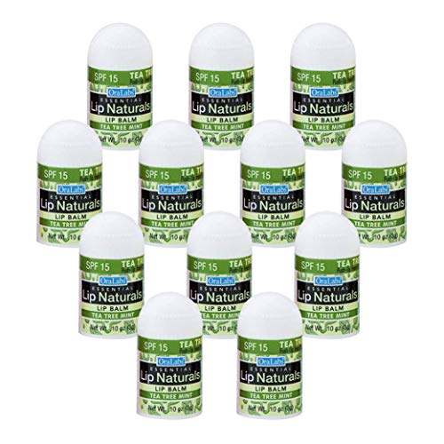 Essential Lip Naturals   Mini Lip Balm - 12 Count [SPF-15] (Tea Tree)