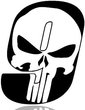Biomar Labs Startnummer Nummern Auto Moto Vinyl Aufkleber Sticker Skull Schädel Punisher Weiß Motorrad Motocross Motorsport Racing Nummer Tuning 9 N 369 Auto