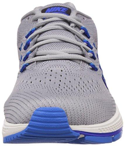 Nike Air Zoom Vomero 10 Heren Hardloopschoenen Wolf Grijs / Zwart / Donkergrijs / Fotoblauw