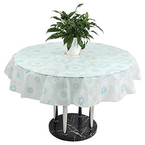 Amazon.com: DealMux Padrão Flor PEVA Dormitório mesa Redonda ...