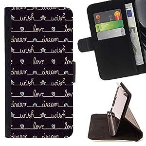 - notebook diary stars black writing - - Prima caja de la PU billetera de cuero con ranuras para tarjetas, efectivo desmontable correa para l Funny HouseFOR HTC DESIRE 816