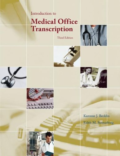 Download Introduction to Medical Office Transcription pdf