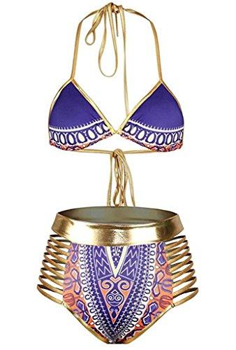 Tooklanet African Dashiki Metallic Swimsuit