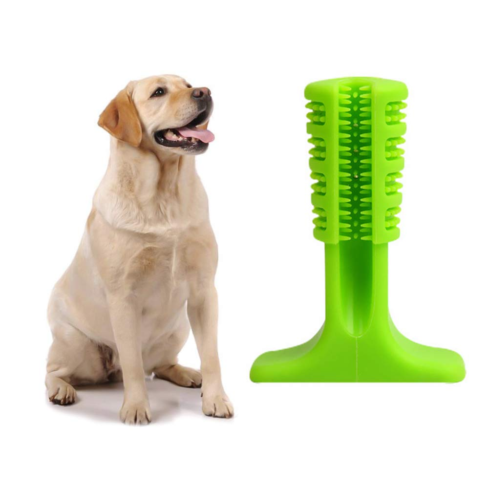 Pet Brushing Chewing Stick for Cleaning Tooth,Professional Dog Toothbrush Stick for Pet Oral Care Pet Rubber Toothbrush Stick Great Gift for Pet Lover(Green