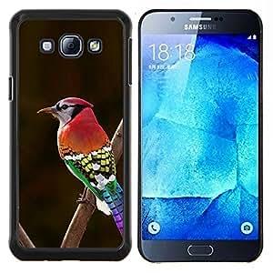 Dragon Case - FOR Samsung Galaxy A8 A8000 - red brown green red beak branch brown - Caja protectora de pl??stico duro de la cubierta Dise?¡Ào Slim Fit