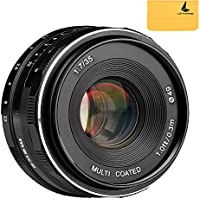 Meike MK-35mm F1.7 Large Aperture Manual Focus Lens for Sony E Mount Camera NEX3/3N/5/5T/5R/6/7/A5000/A5100/A6000/A6100/A6300