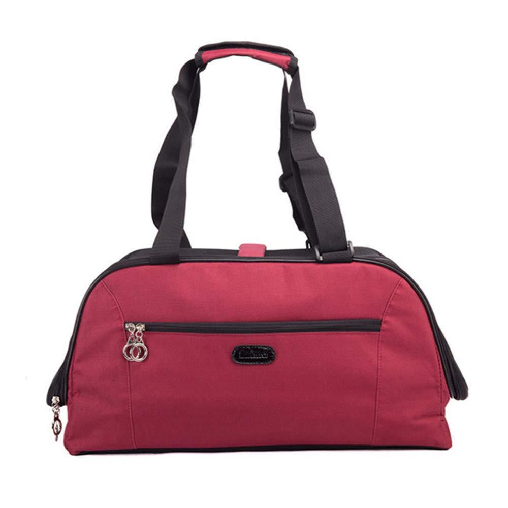 Red 18.9108.7in 48cm25.5cm22cm Red 18.9108.7in 48cm25.5cm22cm JFRI Pet Carrier Pet bag cat dog portable out with travel bag shoulder bag breathable bag large