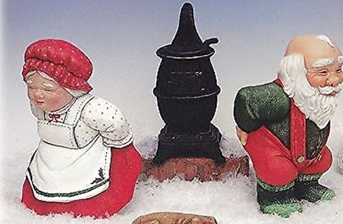Bun Warmer Santa and Mrs Claus (Christmas) - Ready to Paint Ceramic Bisque - Hand Poured in the USA (Santa Ready To Paint)